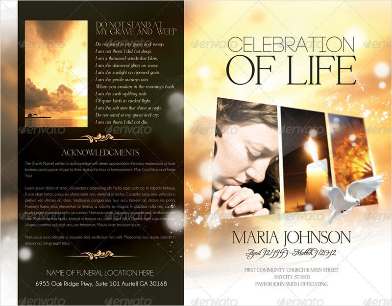 37+ Funeral Brochure Templates Free Word, PSD, PDF Example Ideas - funeral program templates free downloads