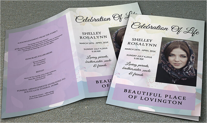 37+ Funeral Brochure Templates Free Word, PSD, PDF Example Ideas - free funeral program templates download