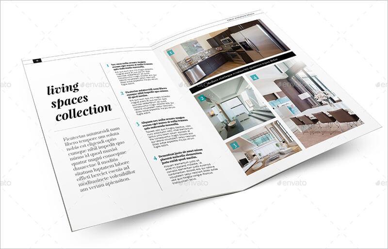 21+ Interior  Exterior Brochure Templates  Themes - interior design brochure template