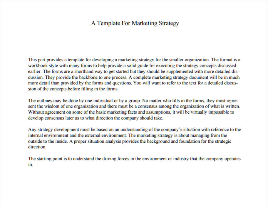 32+ Free Marketing Strategy Planning Template PDF, PPT Download