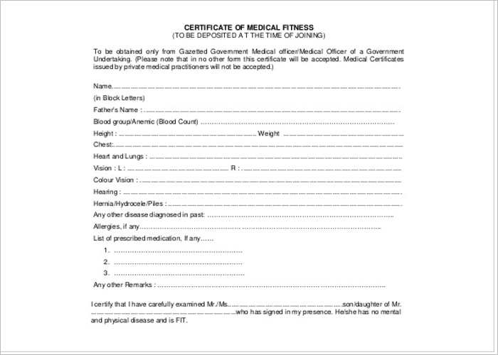 30+ Medical Certificate Template - Free Word, PDF Documents