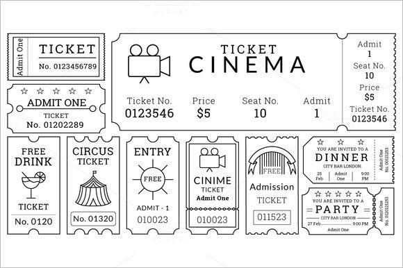 30 Free Movie Ticket Templates Printable Word Formats - visualbrains