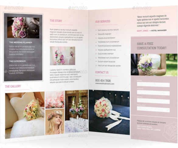 25+ Wedding Brochure Templates Free  Premium - wedding brochure template free