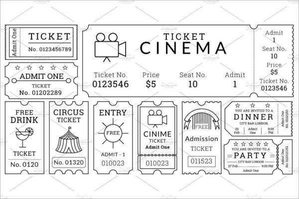 30+ Free Movie Ticket Templates Printable Word Formats - dinner tickets template