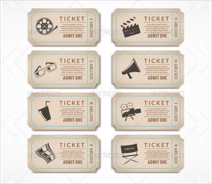 30 Free Movie Ticket Templates Printable Word Formats - visualbrains