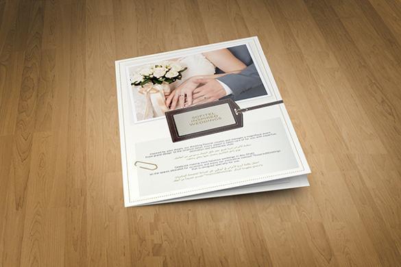 25+ Wedding Brochure Templates Free  Premium - wedding brochure template