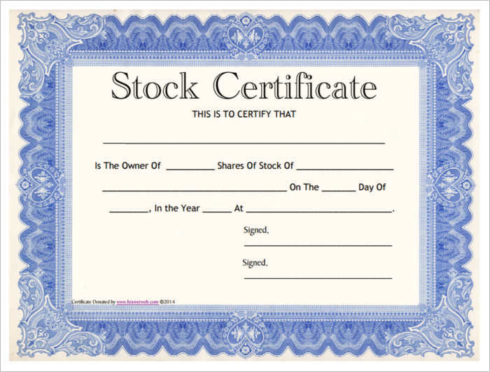 42+ Stock Certificate Templates Free Word, PDF, Excel Formats - sample certificate template