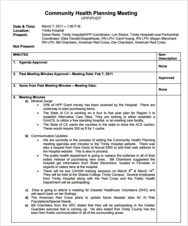 36+ Meeting Minutes Template Free Word, PDF, Doc, Excel Formats