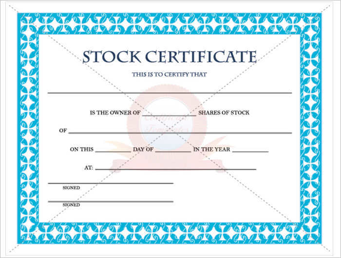 Blank Stock Certificate Template Free Simpletextco - Editable stock certificate template
