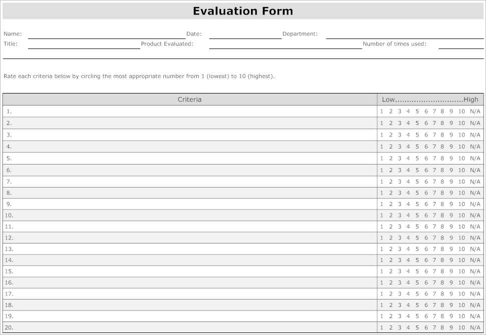 41 Sample Employee Evaluation Forms To Download Employee Evaluation Form Templates Free Word Excel