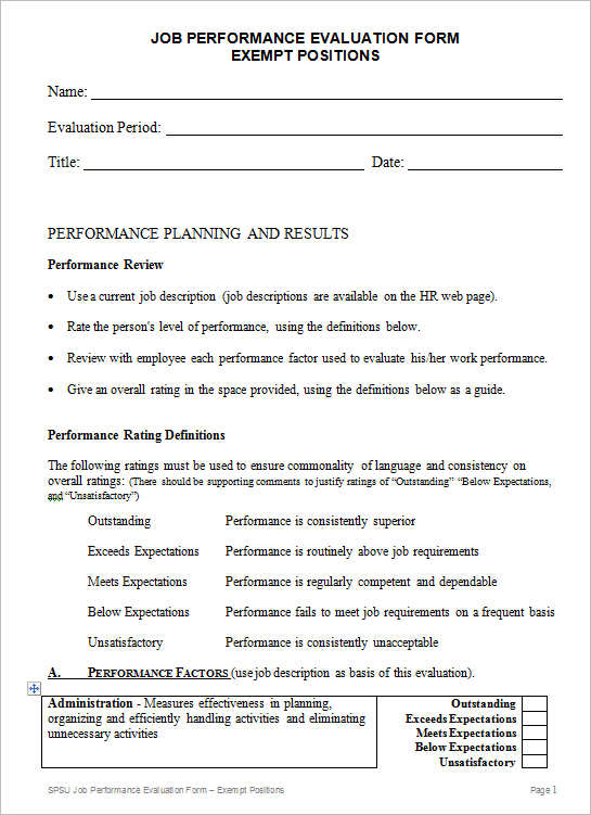 ... PDF Documents   Free Printable Employee Evaluation Form Manager Evaluation  Form Product Evaluation Form   Free Printable Employee Evaluation Form ...
