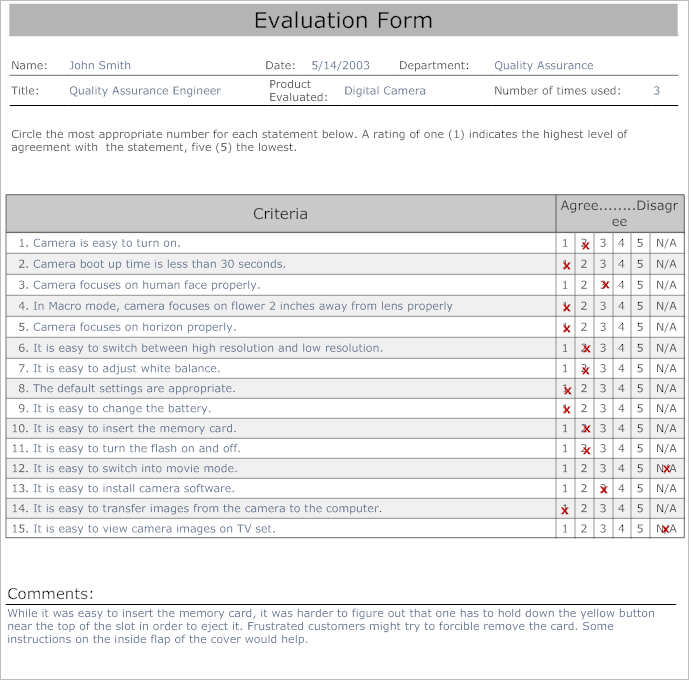 31+ Employee Evaluation Form Templates Free Word, Excel Examples - software evaluation template