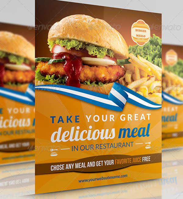 Free Burger Flyer Psd Template Creative Tacos - burger flyer