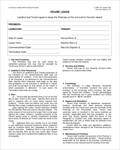 house rental contract template - deodeatts - house rental contract