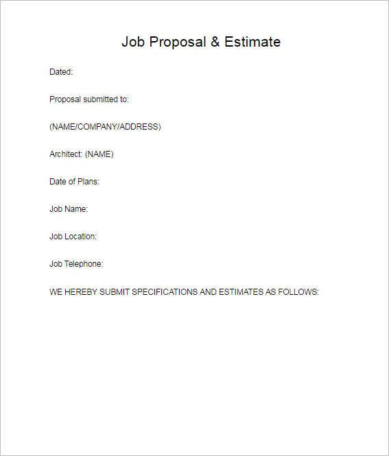 128+ Business Proposal Template - Word, Sample, PDF, Format - estimate proposal template