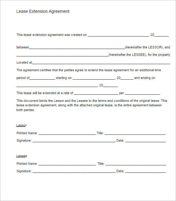 Sample Blank Lease Agreement Blank Lease Agreement Sample Blank - lease template word