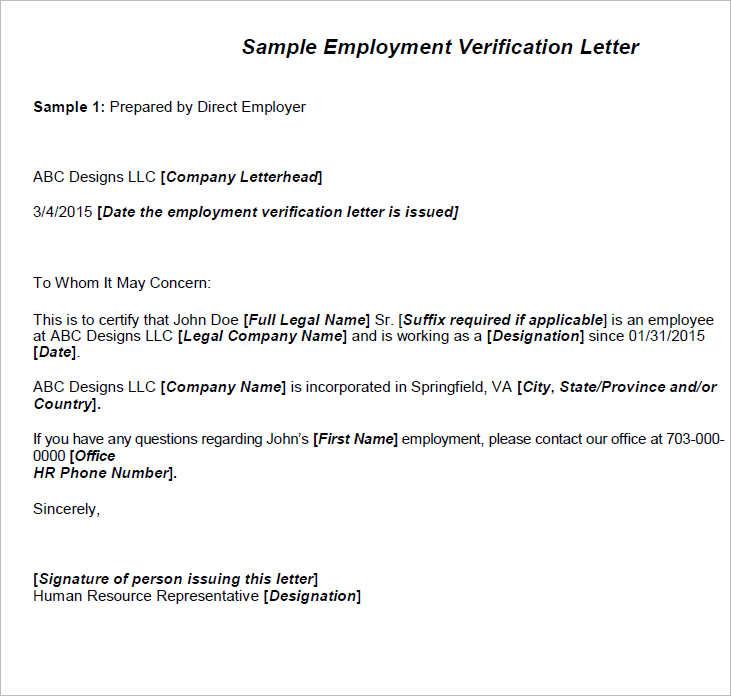 16+ Employment Verification Letter Free Word, PDF, Doc Formats