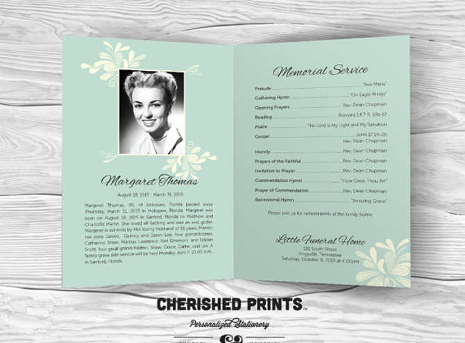 9+ Funeral Program Template Free Word, PDF, Doc, PSD Formats - memorial pamphlet template free