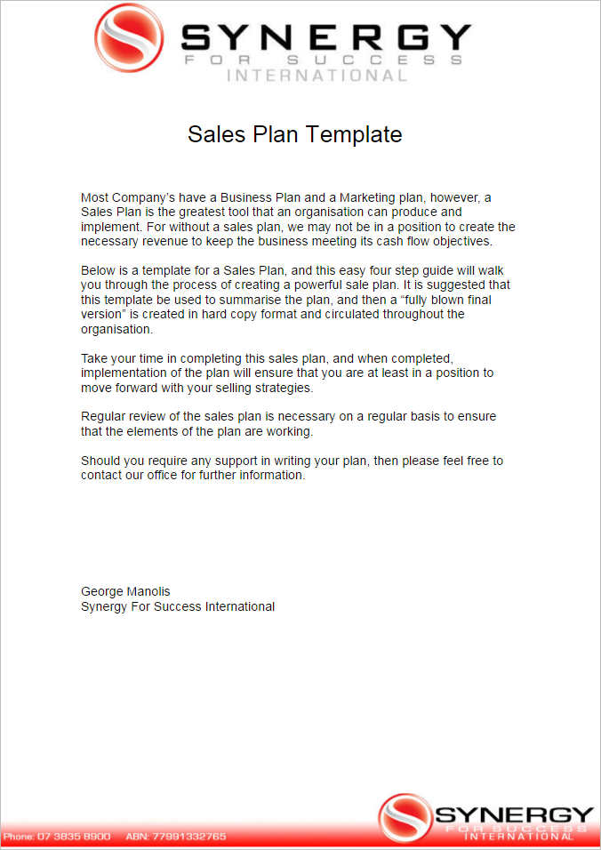 7+ Sales Plan Template Free Word, Form, PDF Formats - Sales Plan Format
