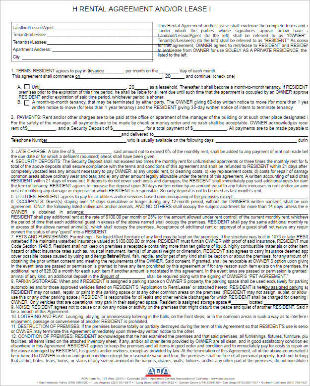 282+ Rental Lease Agreement Free PDF, Sample, Word Formats