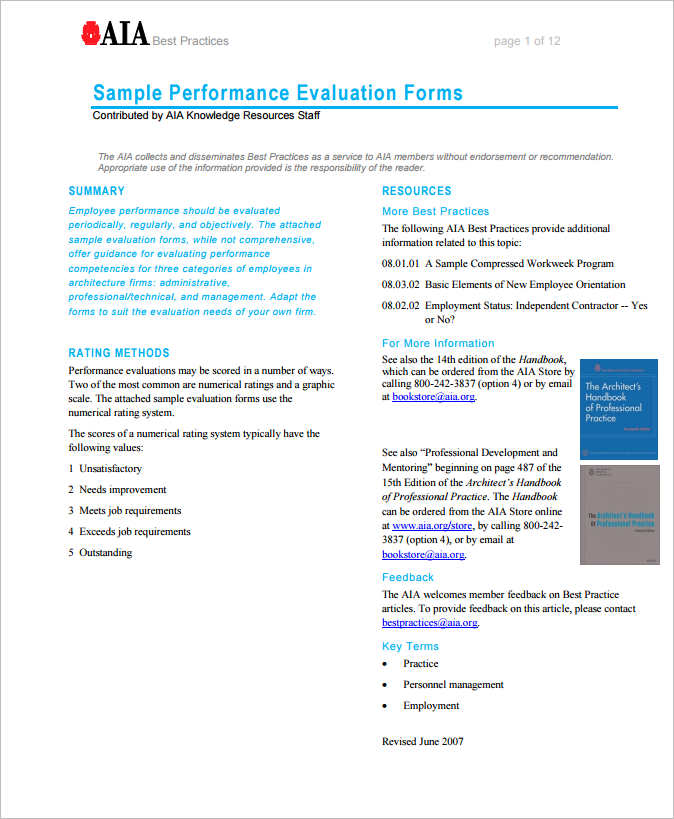 31+ Employee Evaluation Form Templates Free Word, Excel Examples - employee evaluation form