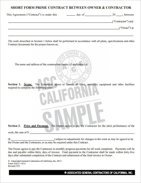 28+ Construction Contract Form Templates Free PDF, Doc, Word Samples