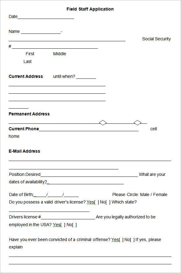 22+ Employee Application Form Templates Free PDF, Word Formats - sample employment application form