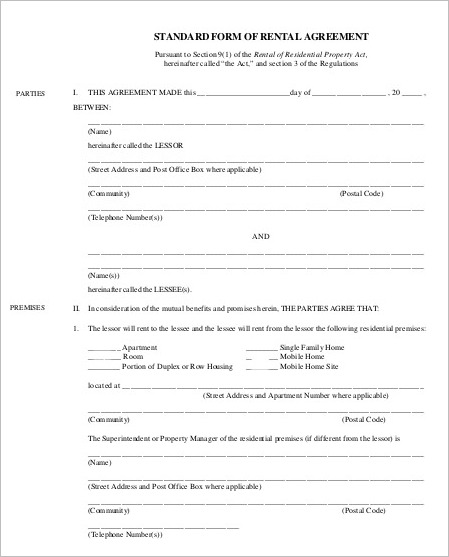 29+ Rental Agreement Form Free Word, PDF Templates