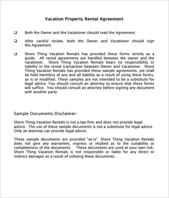 29+ Rental Agreement Form Free Word, PDF Templates
