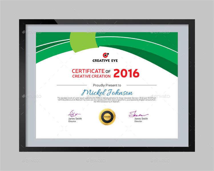 28+ Creative Certificate Templates Free  Premium Templates - certificate designs free