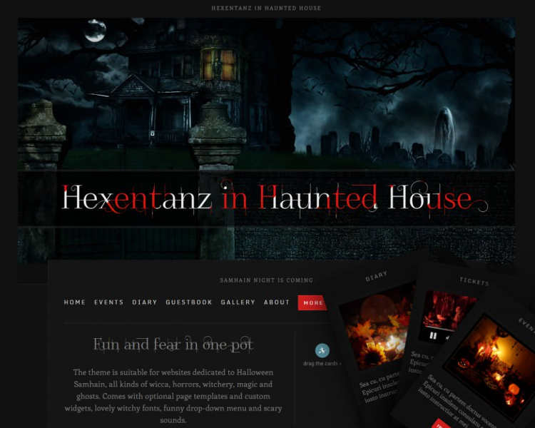 Old Fashioned Halloween Website Templates Picture Collection - halloween website template