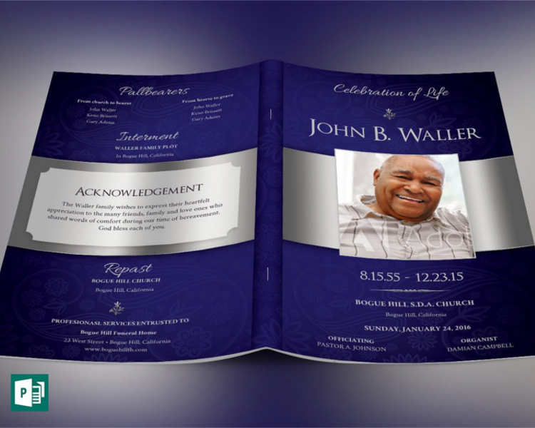 57+ Funeral Program Templates Free Word, PDF, PSD, Doc Samples - funeral program background
