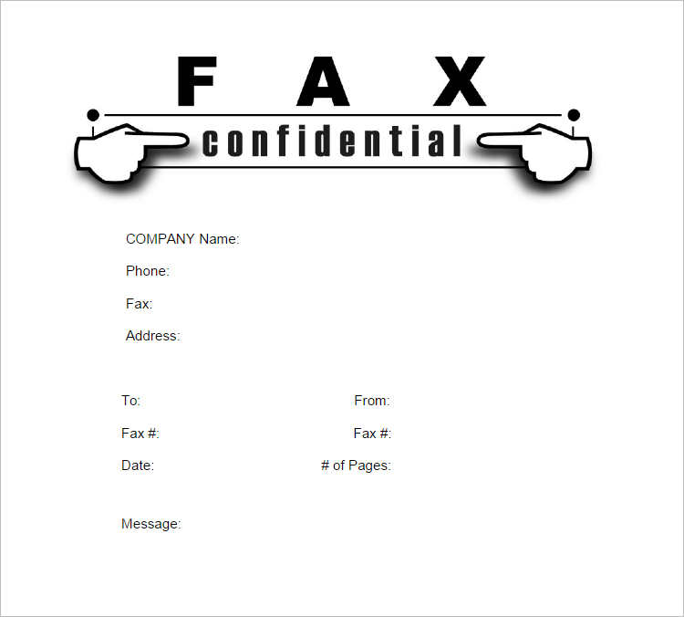 Sample Modern Fax Cover Sheet Blank Fax Cover Sheet Printable Pdf