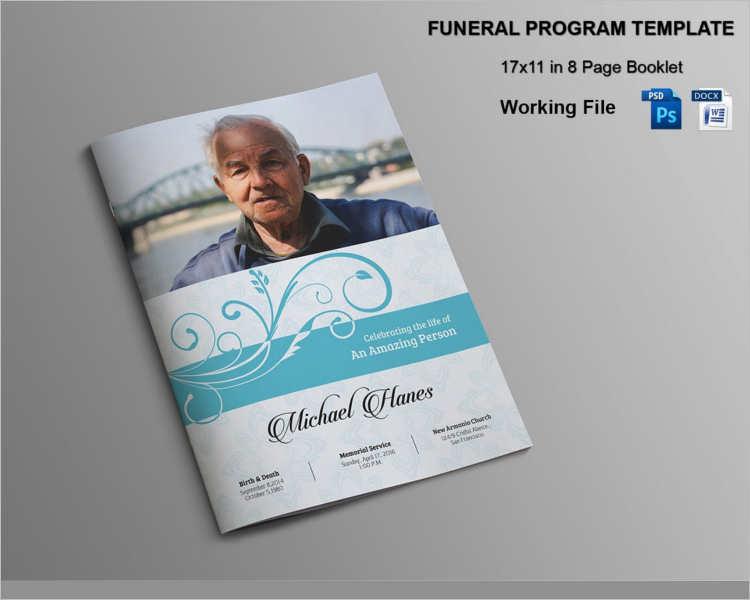 17 Funeral Brochure Templates Free PSD AI EPS Format Download - free download funeral program template