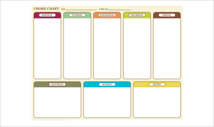 22+ Chore Chart Template Free PDF, Excel, Word Formats