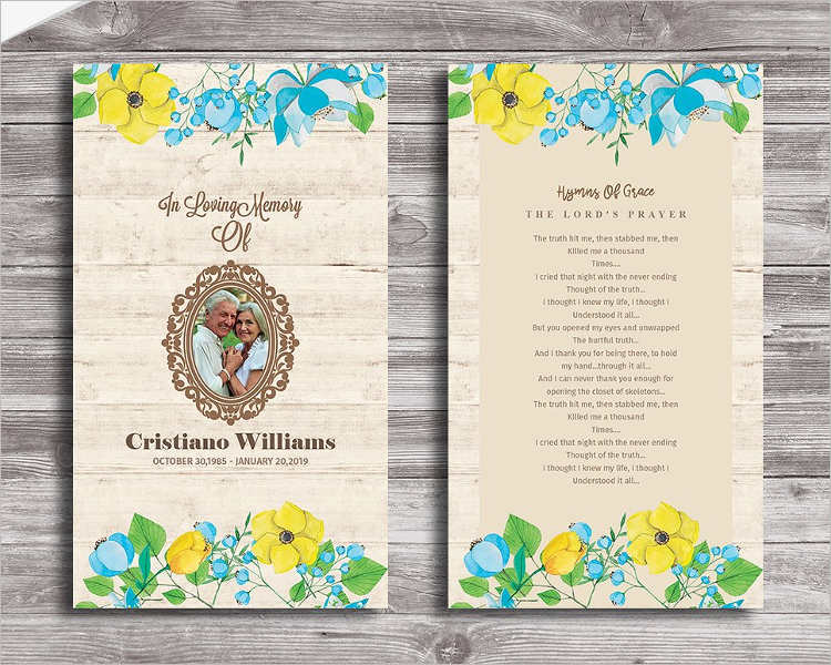 12+ Printable Funeral Card Templates - Free Word, PDF, PSD - funeral card templates free
