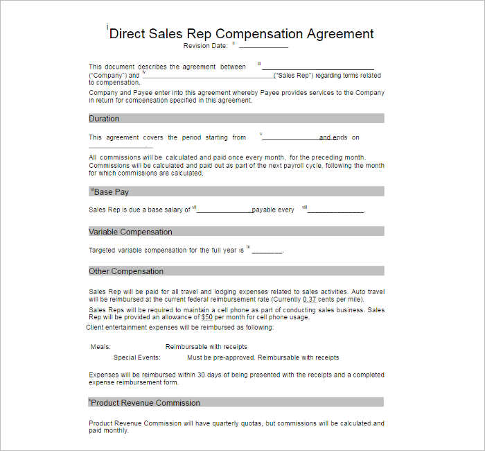 10+ Compensation Plan Template Free Word, PDF Documents - compensation plan template