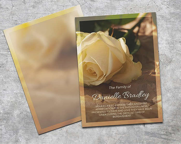 12+ Printable Funeral Card Templates - Free Word, PDF, PSD
