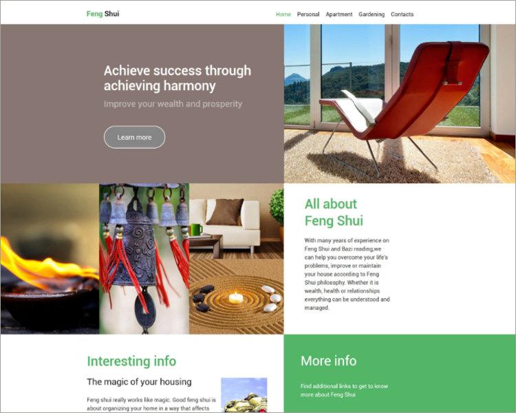 27+ Interior Design Website Themes  Templates Free Download - interior design web template