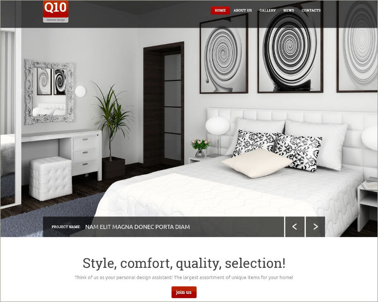 27+ Interior Design Website Themes  Templates Free Download