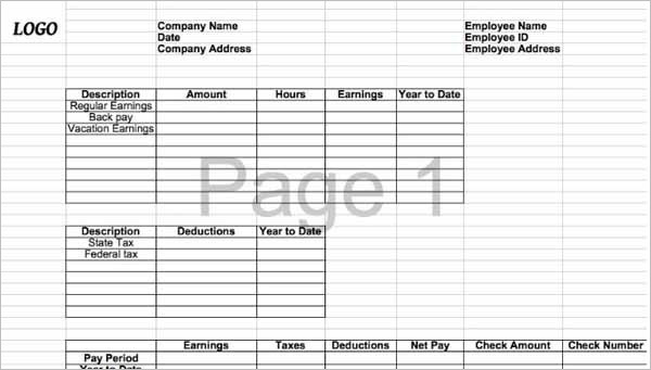 62+ Free Pay Stub Templates Downloads - Word, Excel, PDF, Doc