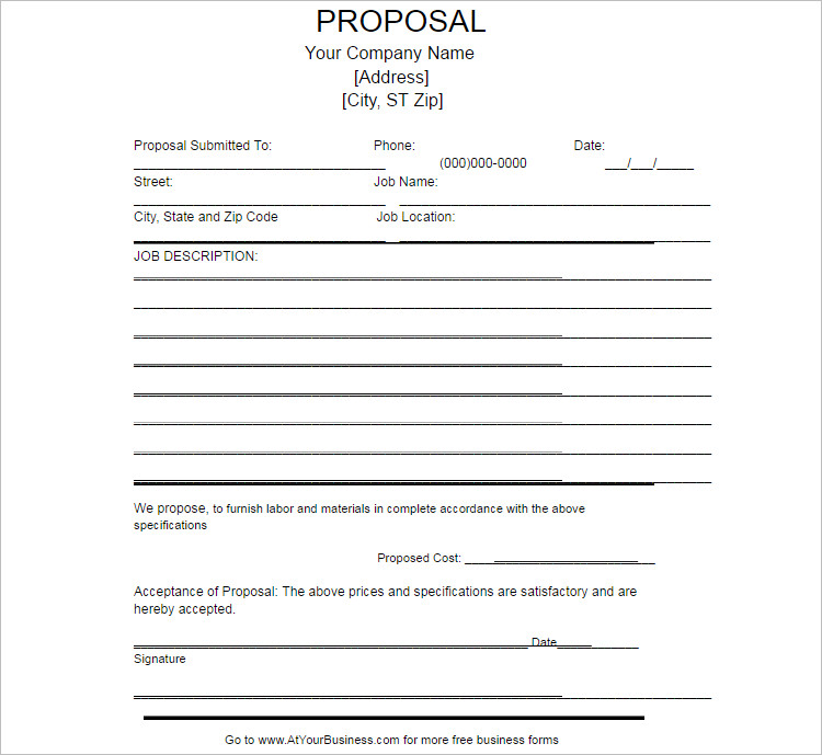 Proposal Template In Word Colbro