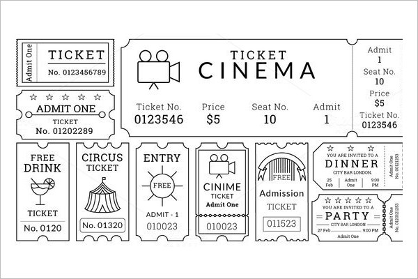 Raffle Ticket Template - Free Word, PDF Format Download Creative - admit one ticket template