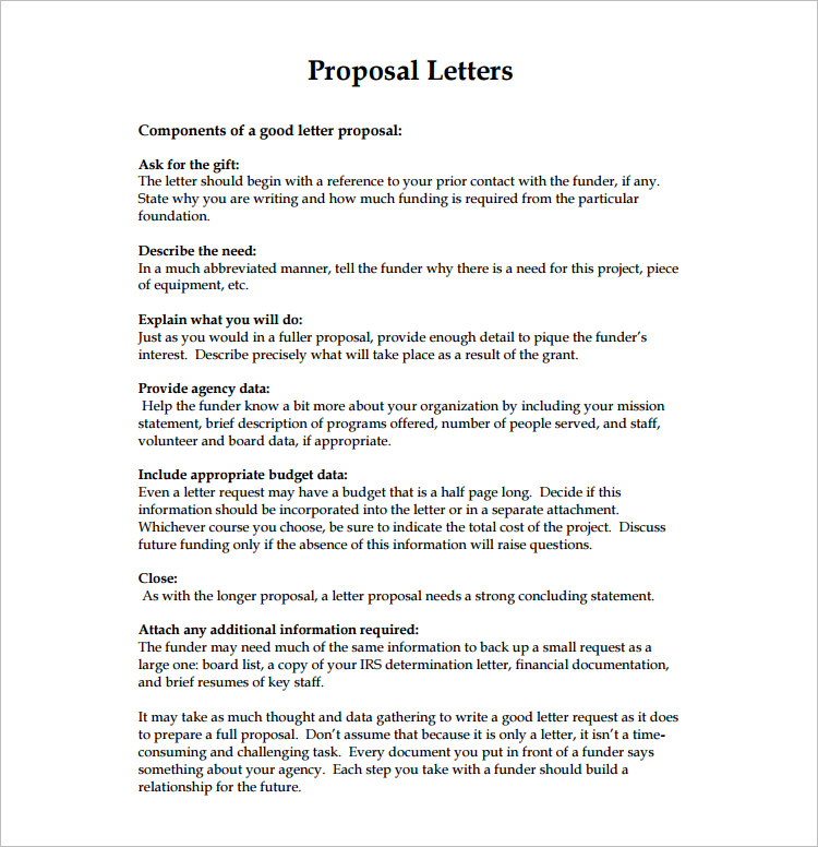 14+ Proposal Letter Templates Free Word, PDF, Doc Formats