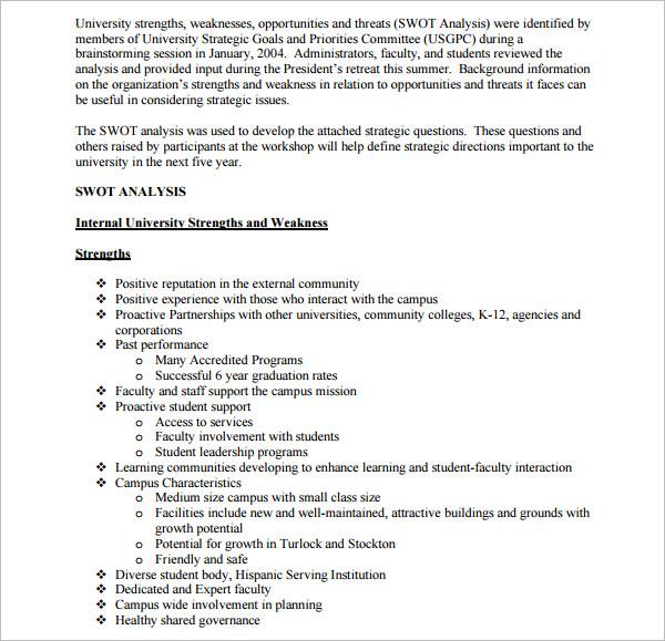swot analysis template doc xv-gimnazija