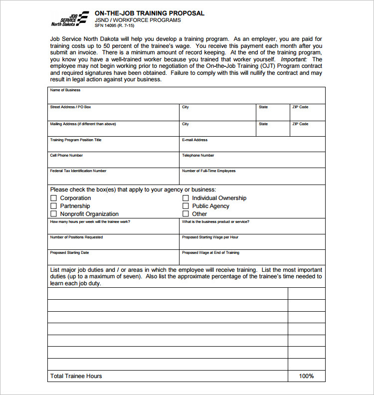 20+ Job Proposal Templates - Free Word, Doc, Excel Document Examples - job duty template