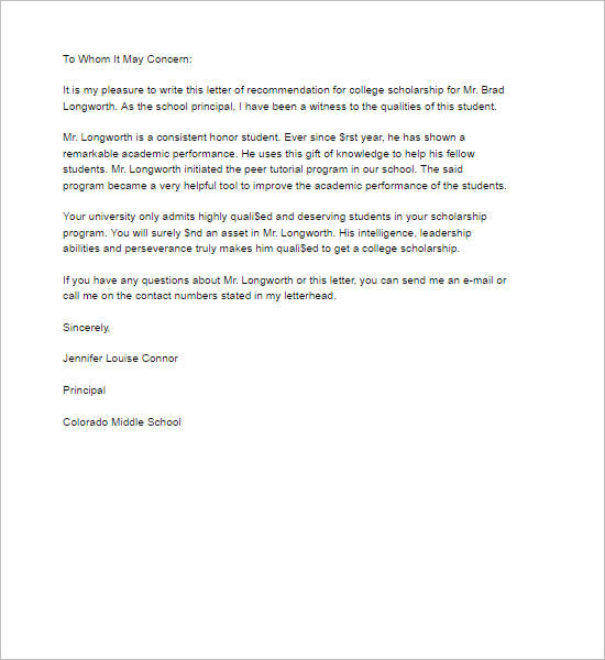 Letters Of Recommendation Recommendation Letter Template Free Word Pdf Format