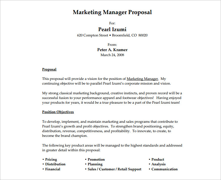 job proposal samples template - Goalgoodwinmetals