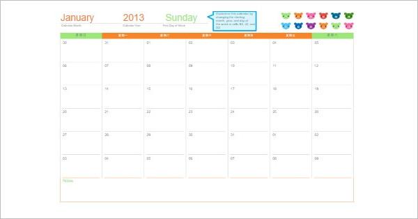 25+ Free Printable Calendar Templates Word, PDF, Excel Formats - calendar template word