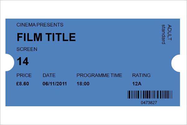 Raffle Ticket Template - Free Word, PDF Format Download Creative - movie ticket template for word